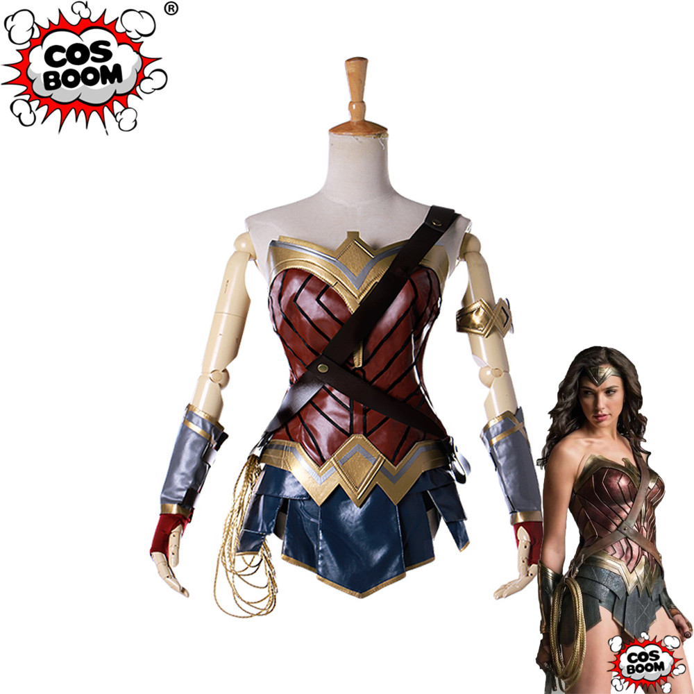 COSBOOM Wonder Woman Cosplay Costume Adult Women's Halloween Costume Diana Prince Justice League Wonder Woman Costume