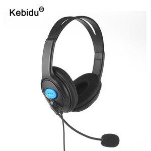 Image 1 - Kebidu 1.9 متر السلكية الكمبيوتر الألعاب سماعة مع مايكروفون casque الصوت كتم التبديل إلغاء الضوضاء سماعة ل PS4 سوني بلاي ستيشن