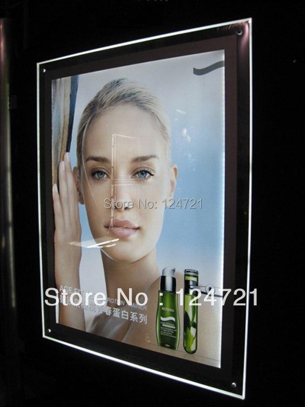 cristal levou ligtbox exibicao de publicidade acrilico sem moldura levou caixa de luz snap quadro