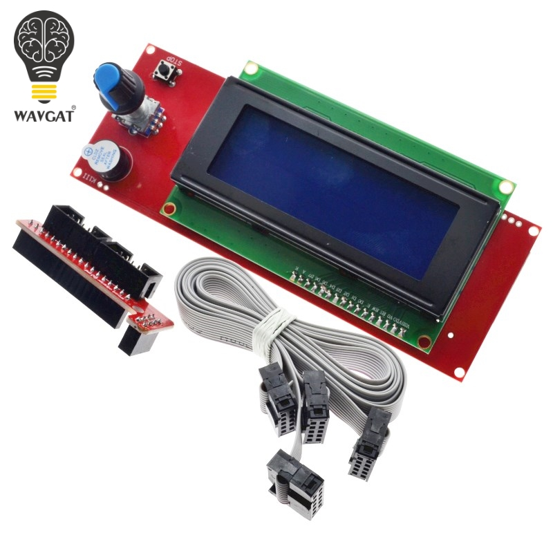 WAVGAT 3D Printer 2004 LCD Controller with SD card slot for Ramps 1.4 - Reprap Display For 3D PrinterWAVGAT 3D Printer 2004 LCD Controller with SD card slot for Ramps 1.4 - Reprap Display For 3D Printer