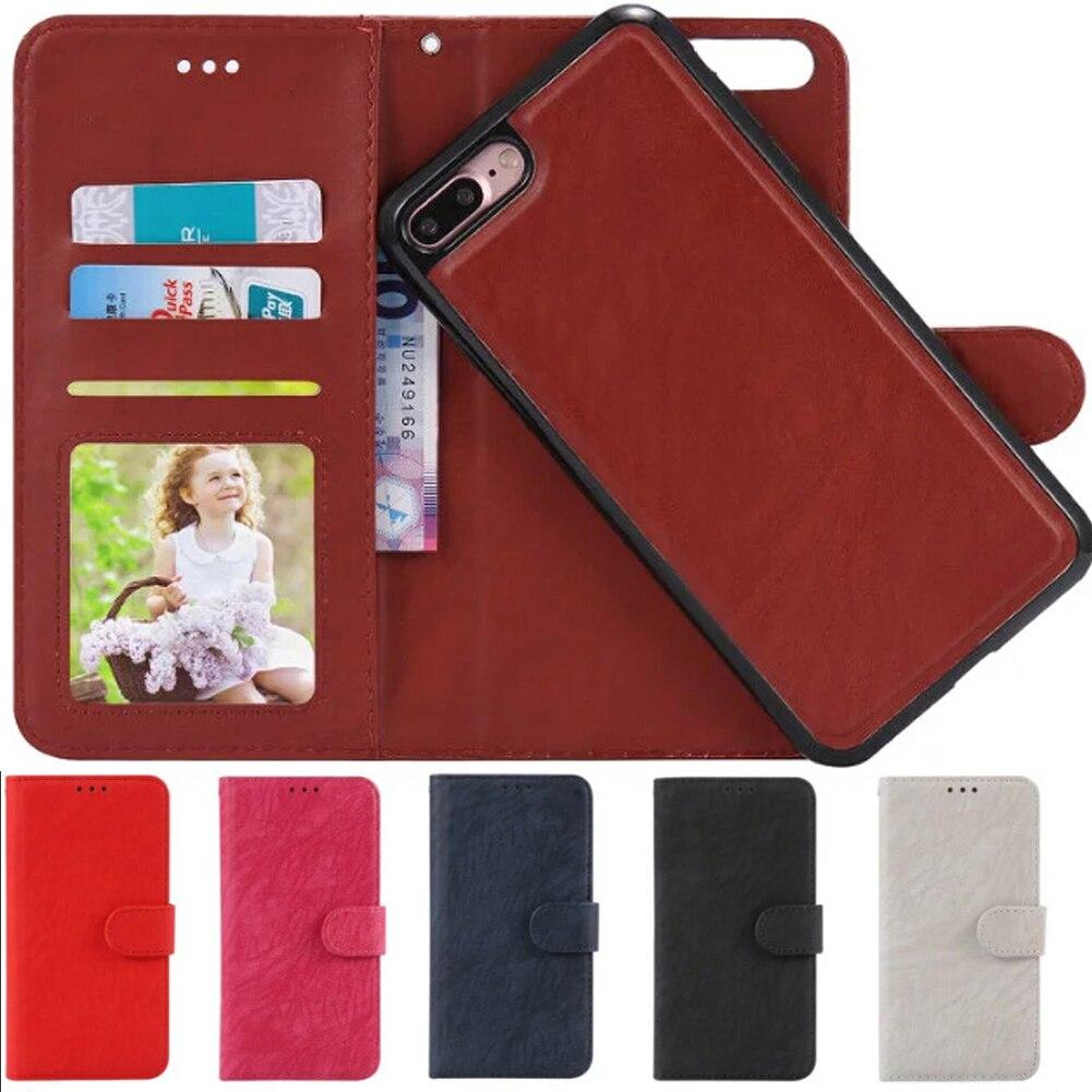 Для iPhone 7 чехол противоударный Флип кожаный карта Карманный Дело Магнитный съемный чехол кошелек сумка для iPhone 6 6S 7 Plus