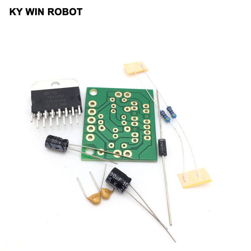 1set Tda7297 Amplifier Board Spare Parts Dc 12v Grade 2.0 Dual Audio Encoding 15w Electronic Diy Kit High Quality Goods Electronic Components & Supplies
