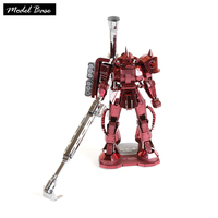 DIY 3D Metal Model Puzzle Game Children Assembly Gundam Robot Model Educational Toys Pure Metal 3d