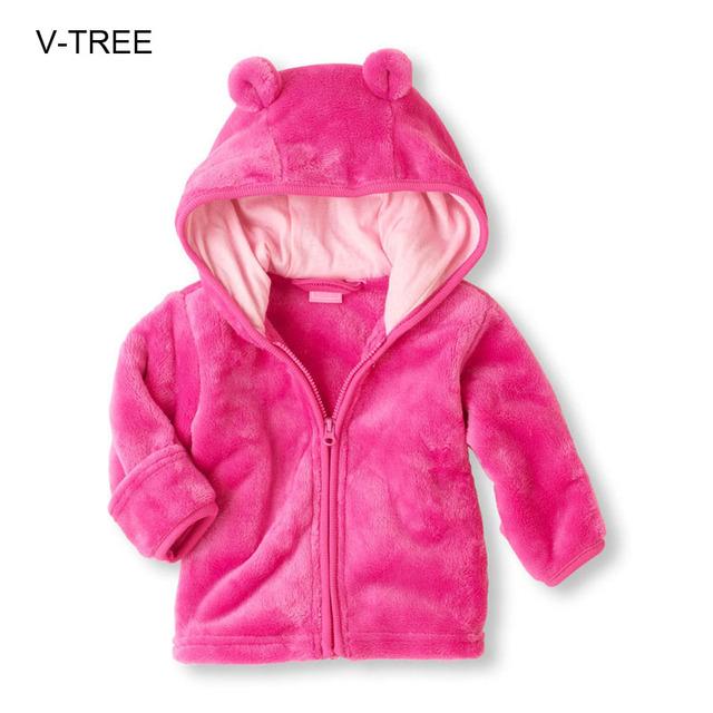 Bebé de terciopelo de Coral con capucha niños y niñas fuera de Otoño e invierno Bebé Bebé de la capa de ropa para niños niñas