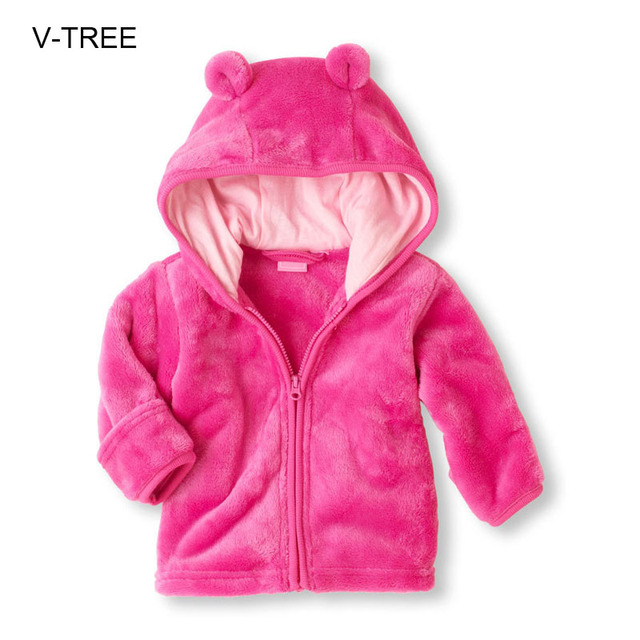 Coral velvet baby hooded boys and girls outside Autumn and winter Baby coat Baby clothes for boys girls