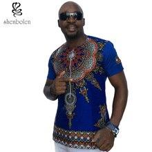 2017 mens african clothing dashiki style cotton stitching wax printing tops man T shirt  clothes kitenge Nigerian style