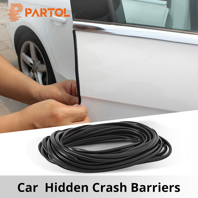 Partol 5M Universal Car Door Edge Guards Trim Molding Protection Strip Scratch Protector For Toyota Audi Suzuki Kia Car Styling