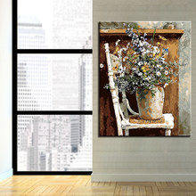 Kits Coloring Frame DIY By Numbers Flowers Chair Acrylic Paint On Canvas Fashion Cuadros Picture For Home Decoration Painting(China)
