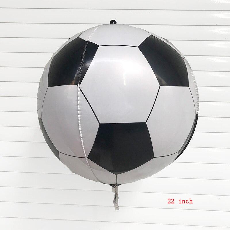 50 pc 22 inch 4d 축구 풍선 헬륨 호일 풍선 생일 축하 파티 장식 어린이 장난감 용품-에서풍선 & 액세서리부터 홈 & 가든 의  그룹 1