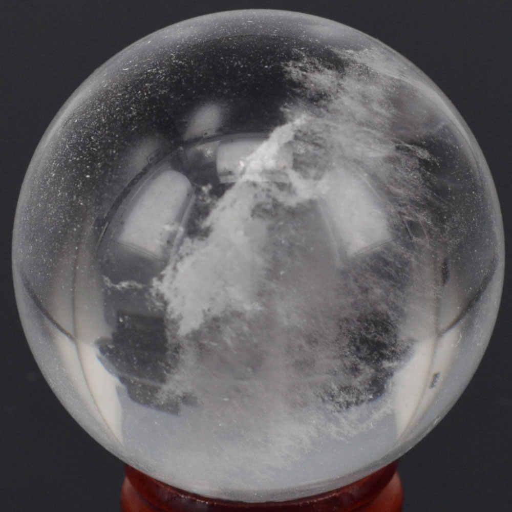 """Natürliche Stein (2 """") Klar Quarz Kristall Kugel Globe Ball Chakra Kristall Reiki Healing Geschnitzte Dekorative Handwerk Mineralien"""