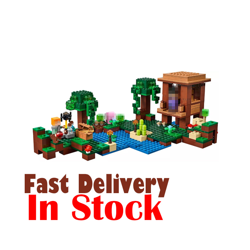 LEPIN 18027 The Witch Hut Minecraft My World Building Blocks Bricks Toys DIY For Kids Model 500PCS Compatible legoINGly 21133 qunlong toys compatible legos minecraft city model building blocks diy my world action figures bricks educational boy girl toy