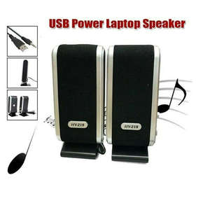 Mini Speakers Wired Audio Laptop Usb-Power Desktop Stereo Video Ac 2 for PC 17x7-X-6.5-Cm