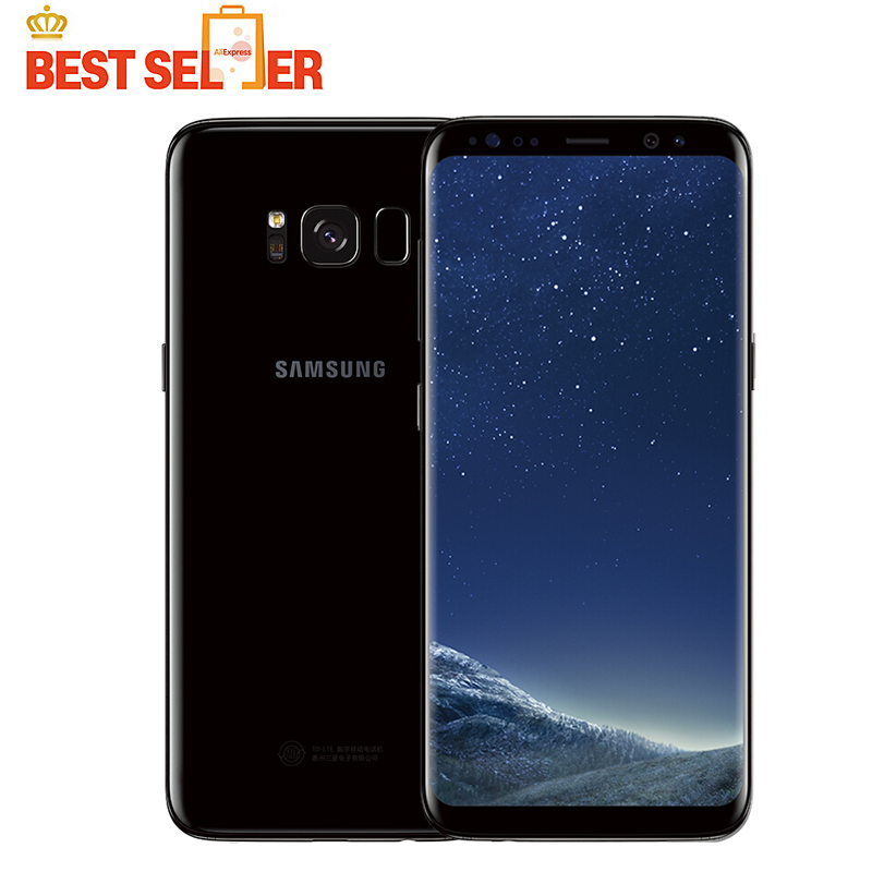 """Unlocked Samsung GALAXY S8 4G LTE Mobile Phone G950 Snapdragon 835 5.8"""" 64GB 2960x1440 Android Octa Core Fingerprint Smartphones-in Cellphones from Cellphones & Telecommunications    1"""