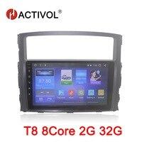 HACTIVOL 9 Octa 8 Core Car radio for MITSUBISHI Pajero V97 V93 2006 2015 Android 8.1 car dvd player GPS navi bluetooth wifi
