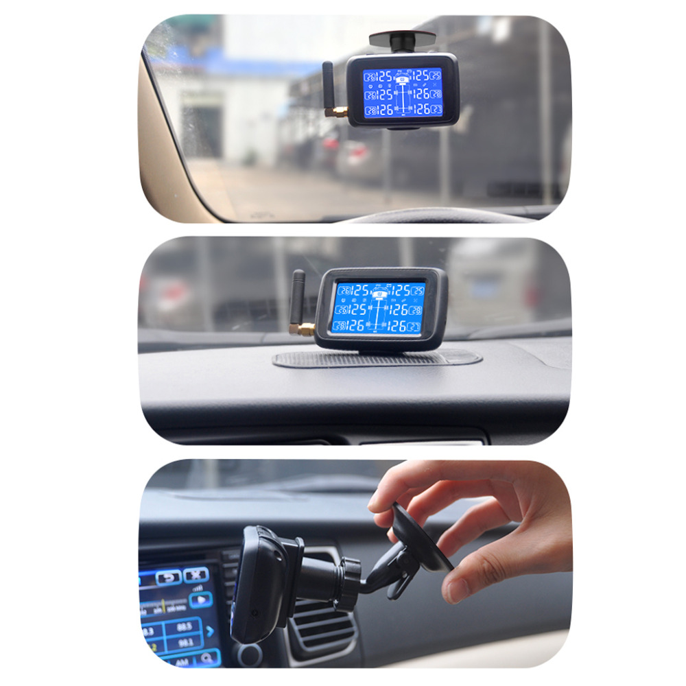 Image 2 - CAREUD U901 Auto Truck TPMS Car Wireless Tire Pressure Monitoring System with 6 External Sensors Replaceable Battery LCD Display-in Tire Pressure Alarm from Automobiles & Motorcycles