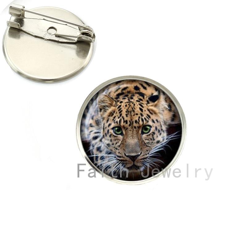 R839 35 De Descontoatacado Lindo Leopardo Imagem Cool Black Panther Broche Broches Pinos De Natureza Selvagem Animal Da Foto Do Gato Jóias 2016