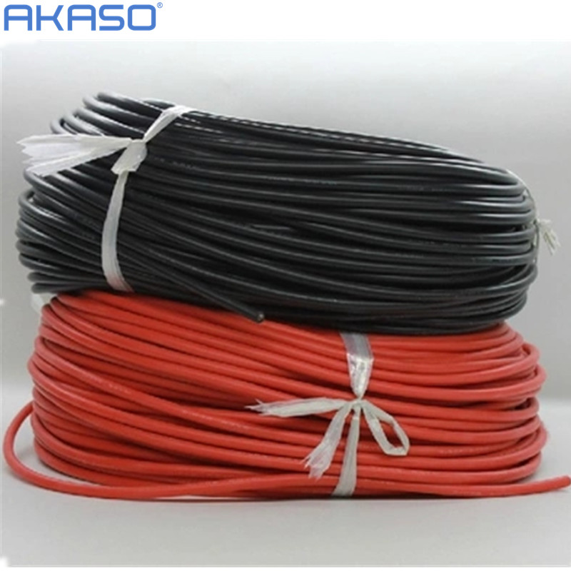1meter Red+1meter Black Silicon Wire 8AWG 16AWG 18AWG 20AWG 22AWG 24AWG Heatproof Soft Silicone Silica Gel Wire Cable 20awg soft flexible silicone wire black red 100cm 2 pcs