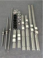 Подушка из бутадиен-стирольного каучука 20 6 комплектов пижам для линейных направляющих SBR20-300/600/1000 мм + набор шариковых винтов SFU1605-350/650/1050 мм +...