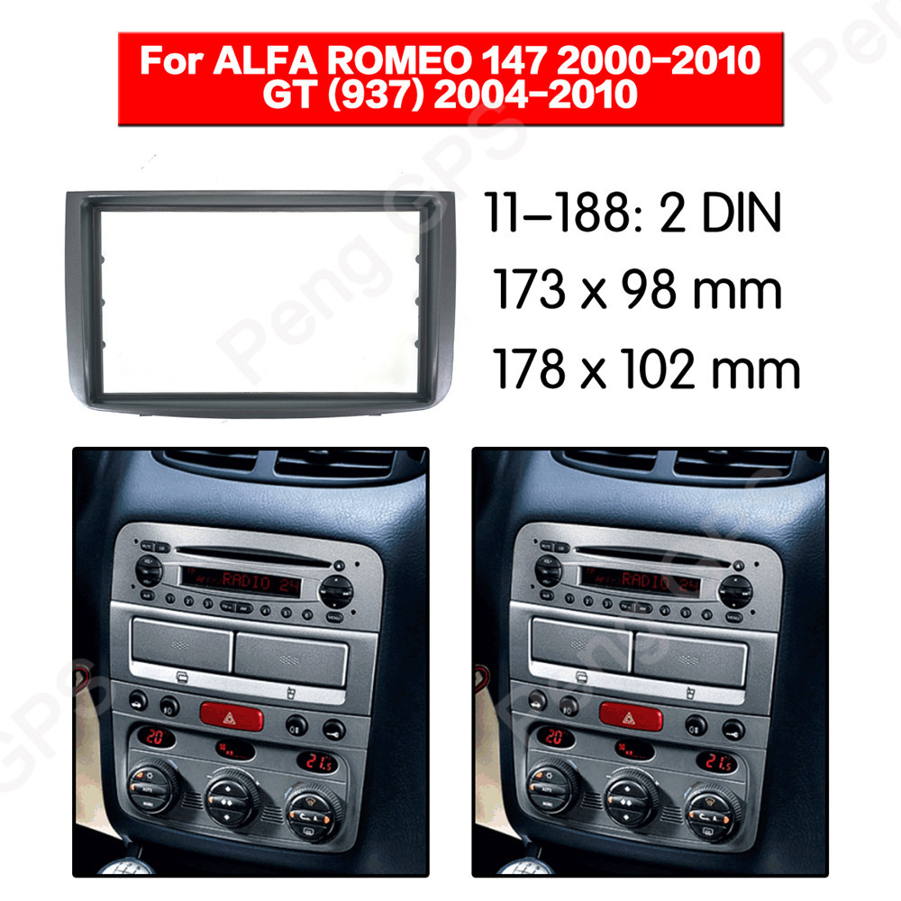 2 DIN Car Radio stereo Fitting installation adapter fascia For ALFA Romeo 147 2000 2010 GT