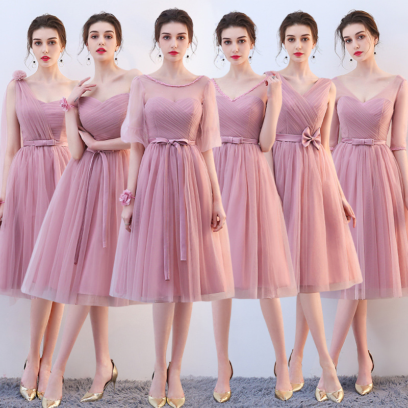 Roayl Blue Satin Bridesmaid Dresses Long Formal Wedding Party Prom Reflective Dress Robe De Soiree Vestido De Noiva Women Dress