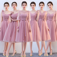 Roayl Blue Satin Bridesmaid Dresses Long Formal Wedding Party Prom Reflective Dress robe de soiree vestido de noiva Women Dress
