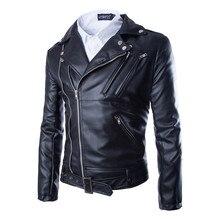Fabrik preis neue herbst fa männer leder motorradfahrer bomber jacke outwear mantel schwarz farbe größe M-XXL AY105