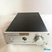 Ultra Class A amplifier 2X80W Stereo Integrated Power Headphone Amp Audio Whole Aluminum Casing Black HIFI