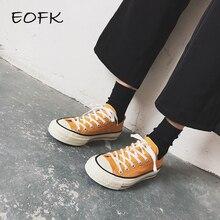 EOFK Spring Fashion Women Canvas Shoes Women's