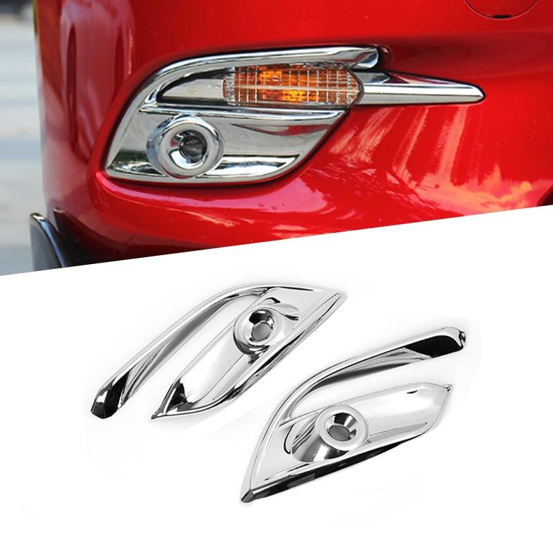 For Mazda 3 M3 Axela 2017 2018 Front Fog Light Lamp Eyelid Cover Trims ABS
