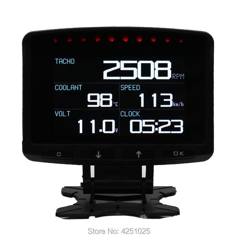 CXAT A208 многофункциональный смарт автомобиль OBD HUD цифровой измеритель Спидометр расход топлива Датчик код ошибки сигнализации Дисплей