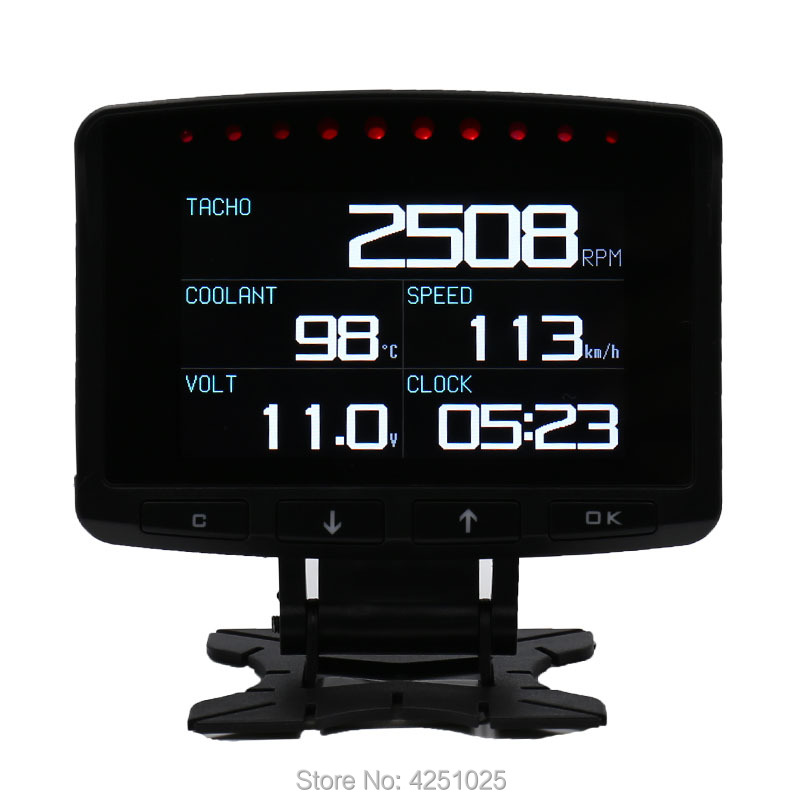 CXAT A208 Multi Funktions Smart Auto OBD HUD Digitale Tacho Meter Kraftstoff Verbrauch Gauge Fehler Code Alarm Display