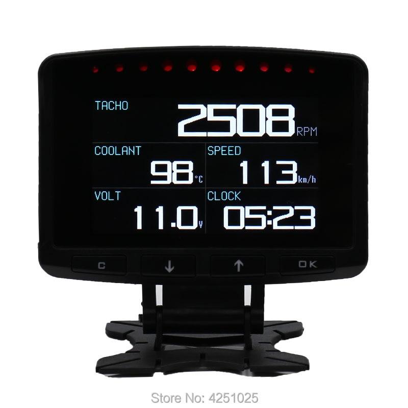 CXAT A208 Multi fonctionnel voiture intelligente OBD HUD compteur numérique compteur de vitesse jauge de consommation de carburant Code d'erreur affichage d'alarme