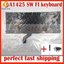 "A1425 Swedish SW Finland Finnish FI keyboard without backlight backlit for macbook pro 13"" retina A1425 SW FI keyboard"