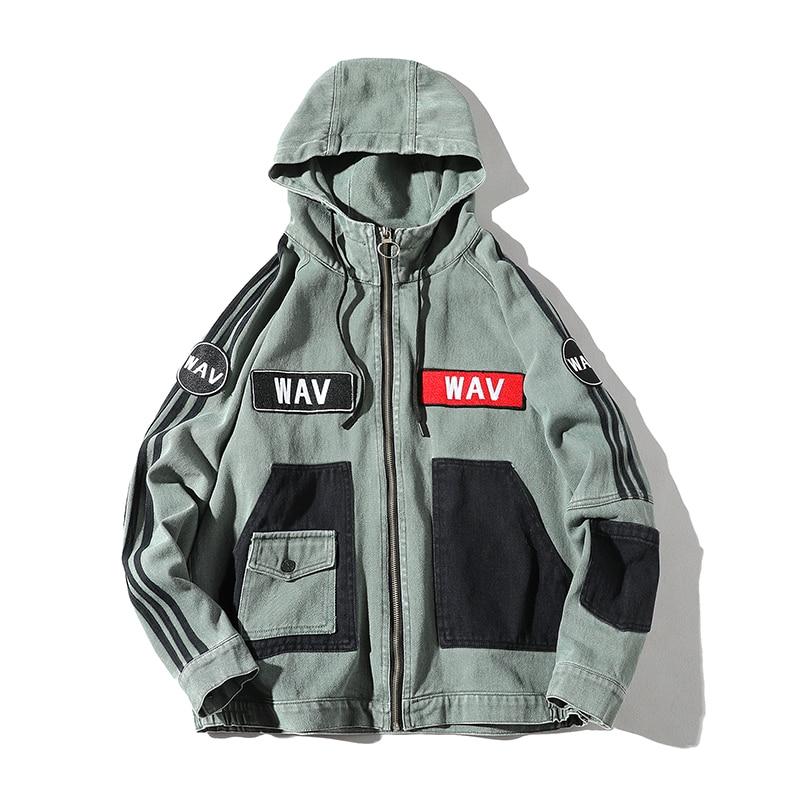 Vestes à capuche hommes mode survêtement décontracté manteau hommes Hip Hop Streetwear japonais Bomber veste