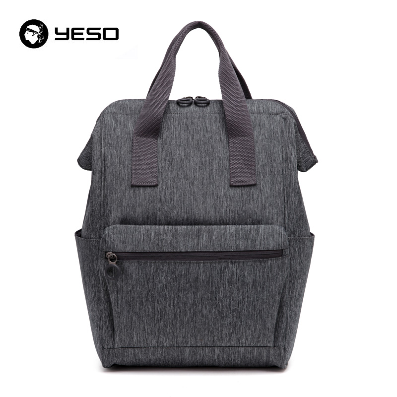 YESO Large Capacity Backpack Women Multifunction Gray Backpack Men Waterproof Oxford Irregular Business Casual Backpack 2018 Bag