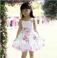 Clearance!! Baby girls Summer tulip Flower print Dress Girls Vest Floral dress children's Clothing