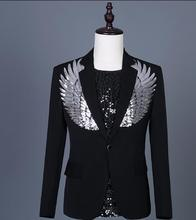 New men's fashion dress drill suit blazers European and American stage host male suit singer stage costumes