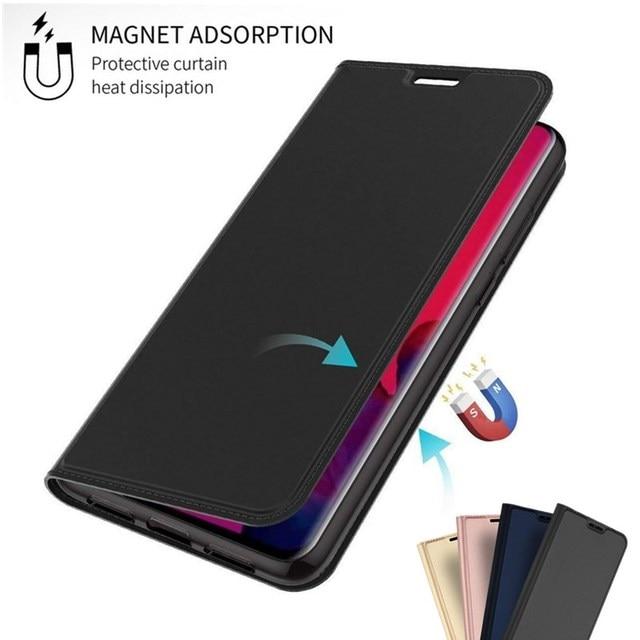 磁気フリップブックケース Huawei 社 P20 Lite ノヴァ 3 3i スリム Pu レザーカードホルダー Huawei メイト 20 10 プロ P30 Lite Coque