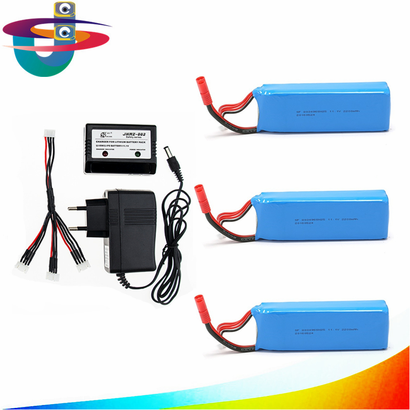 3pcs and charger set Lipo Battery 11.1V 2200Mah 3S 30C MAX 40C for Rc Quadcopter drone bayangtoys x21 x16 FREE SHIPPING 3pcs 3 7v 900mah li po battery green european regulation charger and cable for remote control xs809 xs809hc xs809hw quadcopter