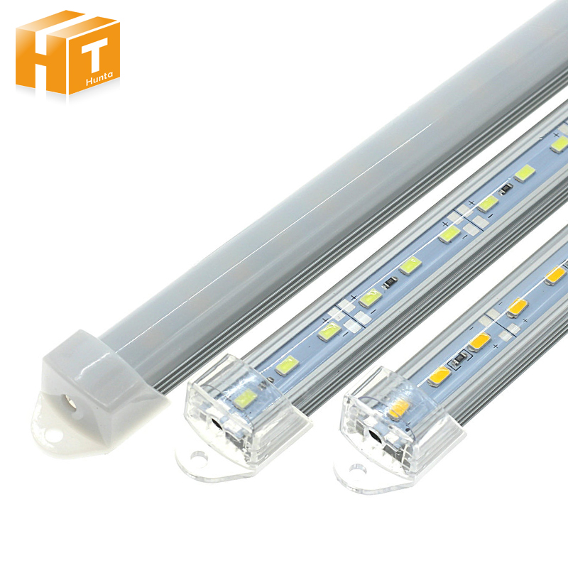 New arrived 5pcs/lot DC12V LED Bar Lights 5730 LED Rigid Strip 50cm LED Tube with U Aluminium Shell + PC Cover