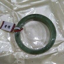Браслет с натуральным нефритом изысканный женский зеленый 54 мм-58 мм нефритовый браслет отправить мама отправить подруге