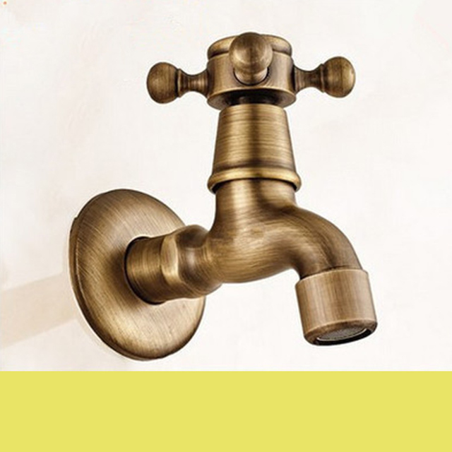 MAXSWAN Antike Bronze Wasserhahn Garten Bibcock Waschmaschine Wasserhahn  Outdoor Wasserhahn Für Garten