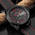 Homens Top Marca De Luxo Moda Casual Quartz Watch Data Homens Relógio De Couro Do Esporte Relógios Militares Relogio masculino Reloj hombre