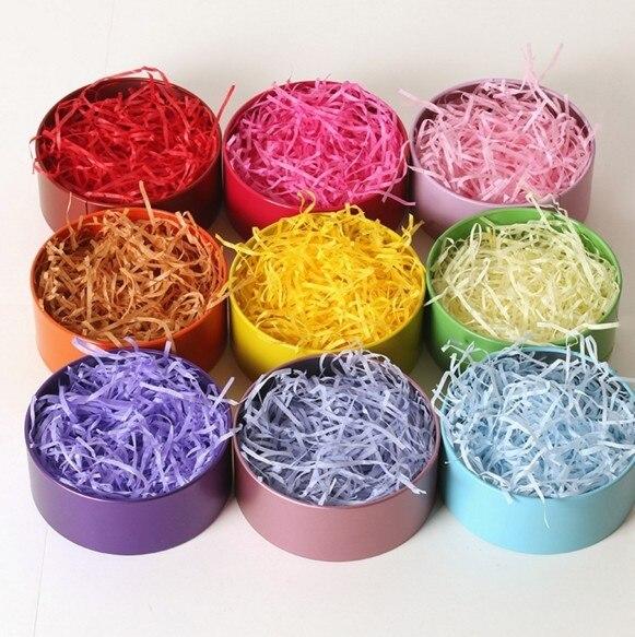 Pick Color 20g Craft Shredded Crinkle Paper Basket Shred Shredded