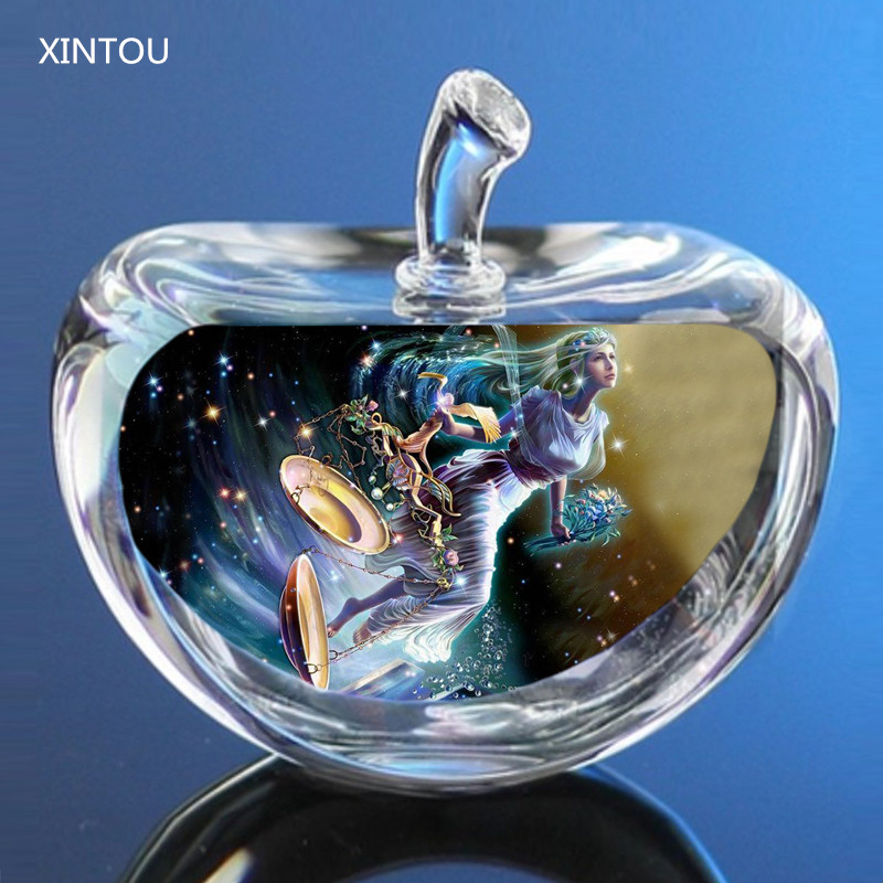 Home Decor 12 Constellations Statuettes Crystal Glass Figurines Miniatures Craft Ornaments For Home Decorations Birthday Christmas Gifts