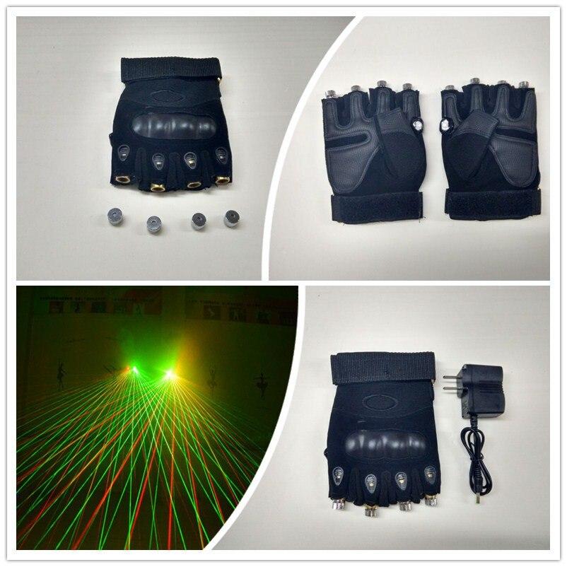 Wecool zelené červené laserové rukavice s 4 ks zelené červené - Pro svátky a večírky