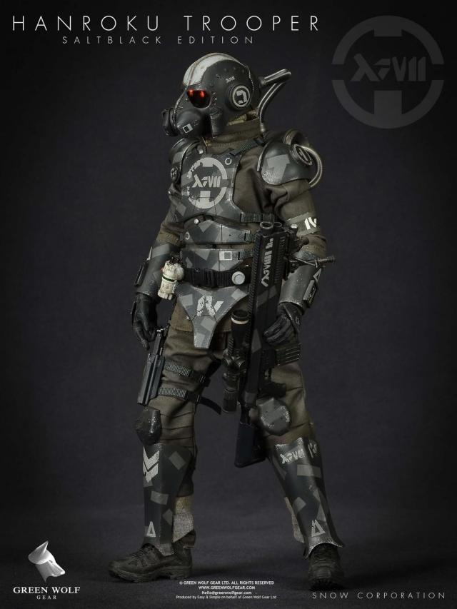 1//6 Scale Toy 13 Project Hanroku Trooper Salt Black Edition Power Pack