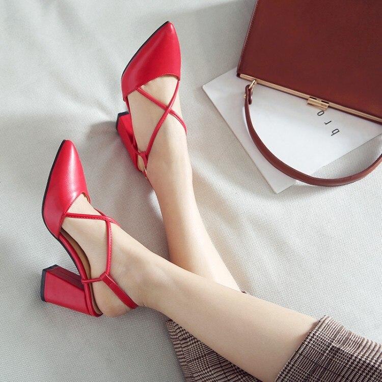 pxelena mature cross tied chunky block high heels slingbacks women