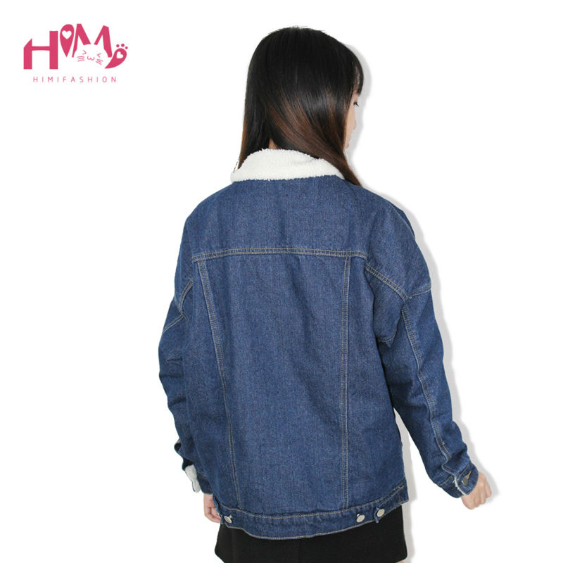 2016 New Fashion Winter Korean Edition Thickening And Cotton Denim Cotton Female Loose Jacket  3