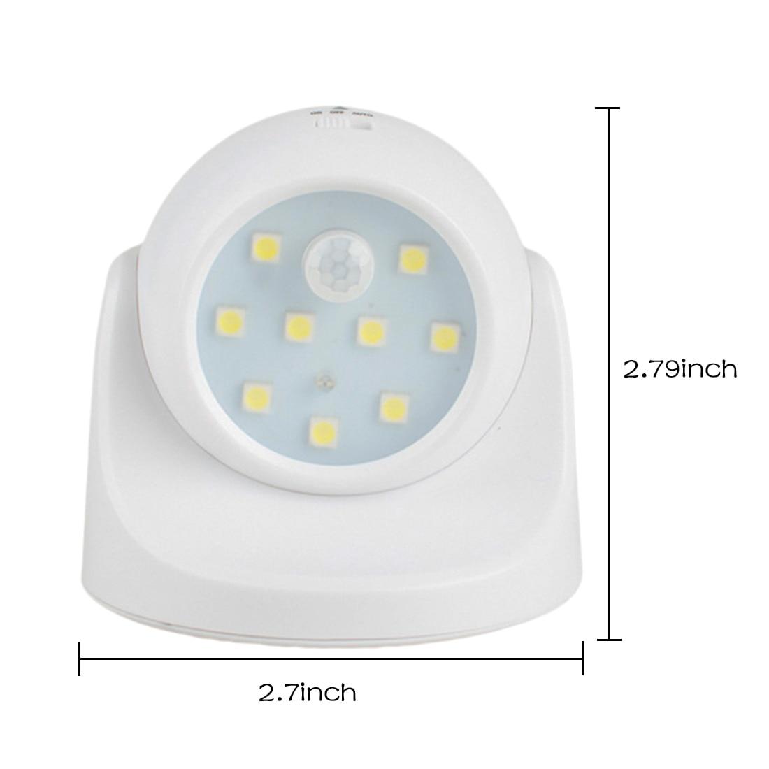 9 LED Motion Sensor Night Light 360 Degree Rotation Portable Night Light Auto IR Infrared Luminary Lamp Children LED sn101 mini 360 degree rotation 0 1w yellow light auto sensor night lamp white 2 round pin plug